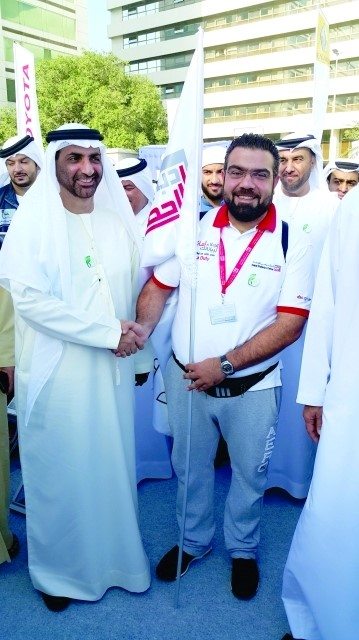 Image : El Labban , the employee who walk from sharjah to dubai