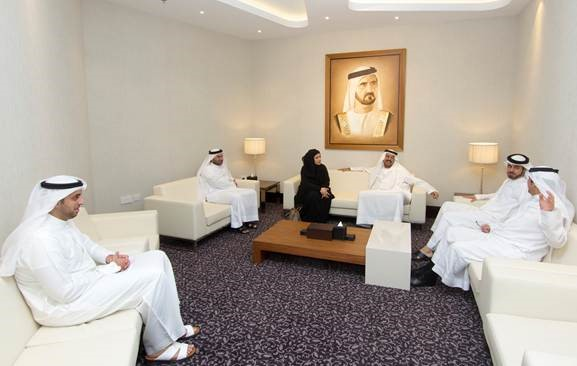 Image : Dubai Government Human Resources Department  during meeting with DSC