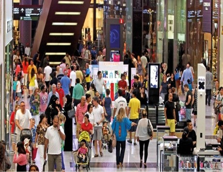Image : Image shows one of the shopping stores in Dubai